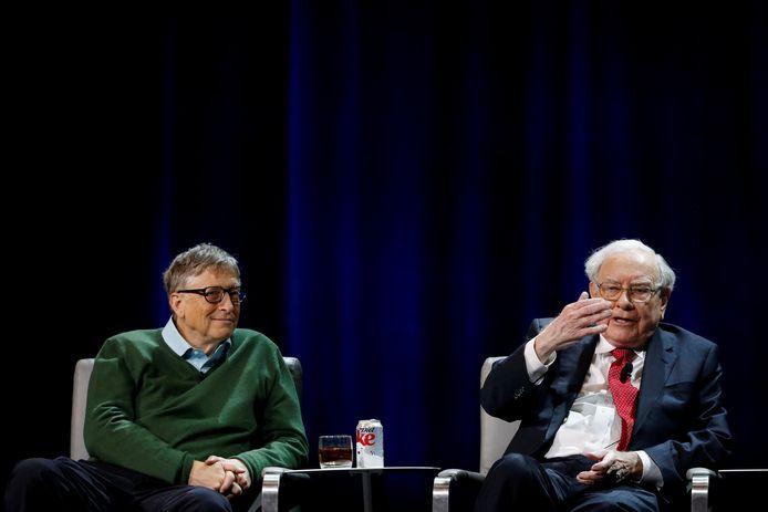 Bill Gates en Warren Buffett in 2017.