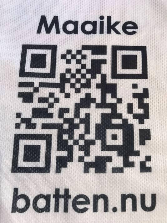 De QR-code van Maaike den Hollander. Ook doneren? Scan deze QR-code!