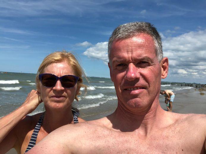 Carolien en Adri de Bruijn uit Teteringen vierden voorgaande jaren altijd vakantie in Frankrijk, maar kozen deze keer voor eigen land: Cadzand.