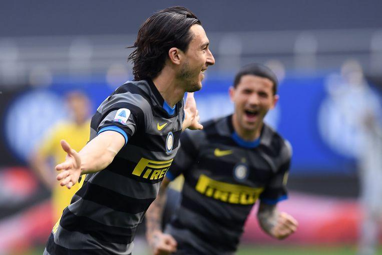 Matteo Darmian scoorde de enige treffer. Beeld Photo News