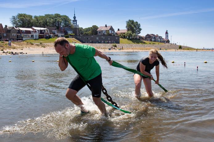 De vierde editie van de Obstacle Challenge, vorig jaar op Urk.