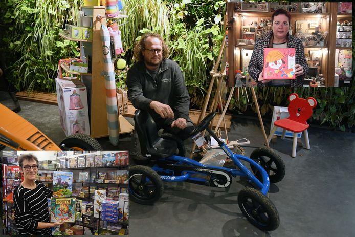 Speelgoedwinkel Mertens, Het Tuinkadeeke en The Grasshopper geven tips aan Sinterklaas