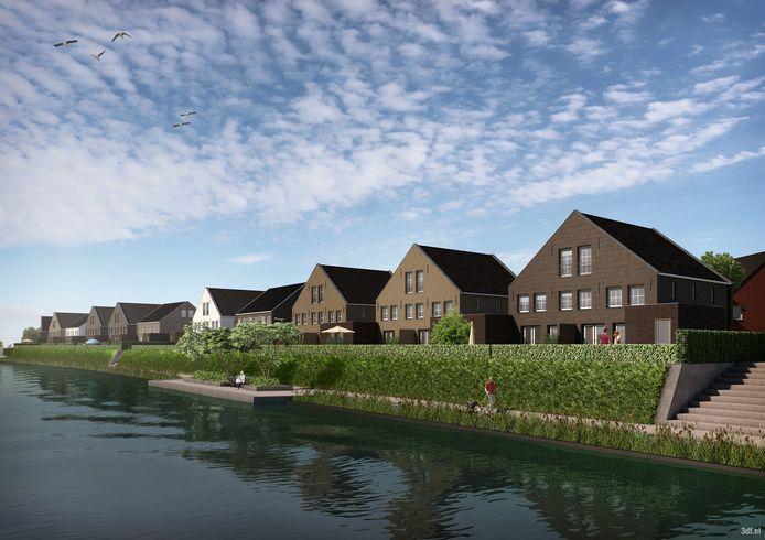 Riederwerf in Ridderkerk. Het nieuwbouwproject aan de Nieuwe Maas gaat een nieuwe fase in.