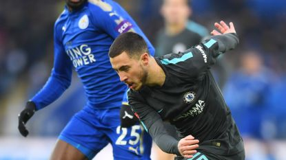 MULTILIVE: Chelsea naar Wembley na zenuwslopende match in Leicester, waar Hazard bleke match speelde