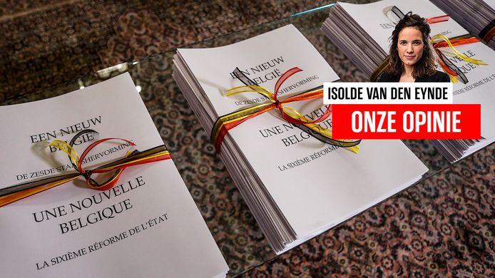 Documenten voor de zesde staatshervorming in 2014.