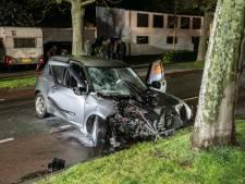 Beschonken automobilist gewond bij botsing met boom in Zevenaar
