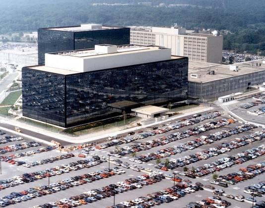 Het hoofdkwartier van de NSA in Maryland.