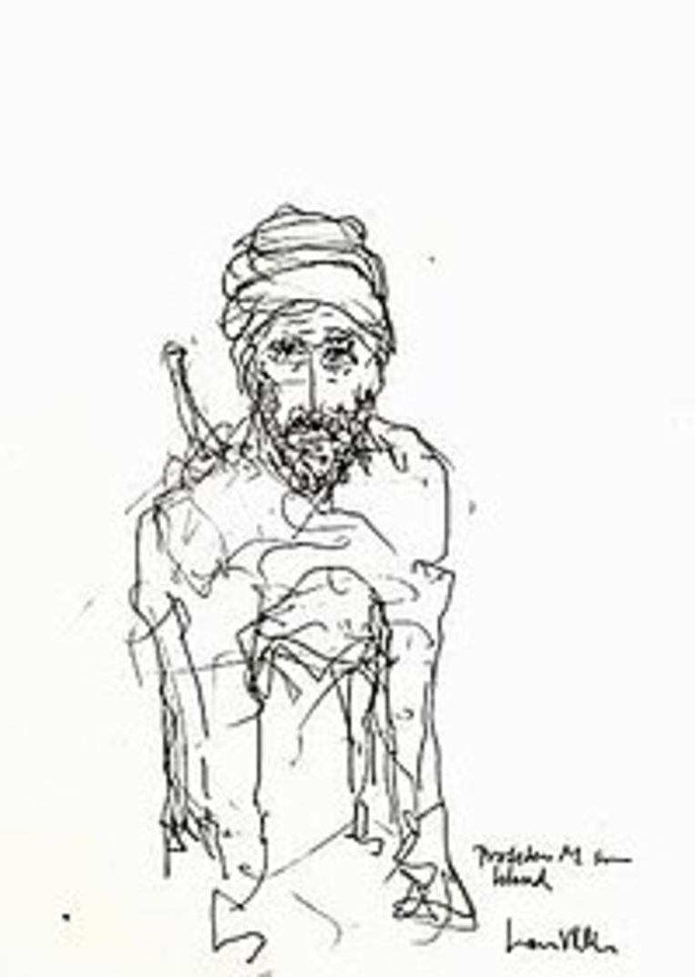 Vilks beeldde de profeet in 2007 af als een hond. Beeld RV