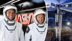 NASA berekende overlevingskansen van twee astronauten die morgen met Crew Dragon van Elon Musk ruimte in geschoten worden