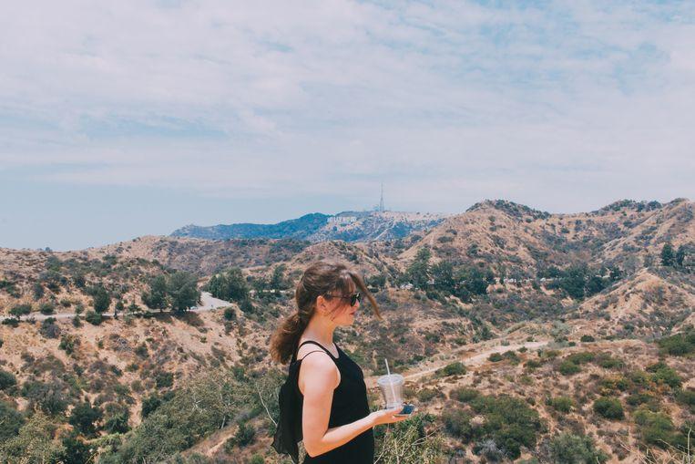 Justine Bourgeus zit niet enkel in LA om te werken. Ze neemt ook een verdiende vakantie na een krankzinnig jaar. Beeld Tina Herbots