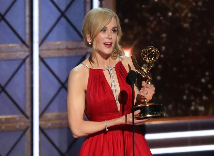 """Nicole Kidman a battu sa copine Reese Witherspoon pour le prix de la meilleure actrice dans une mini-série (""""Big Little Lies"""")."""