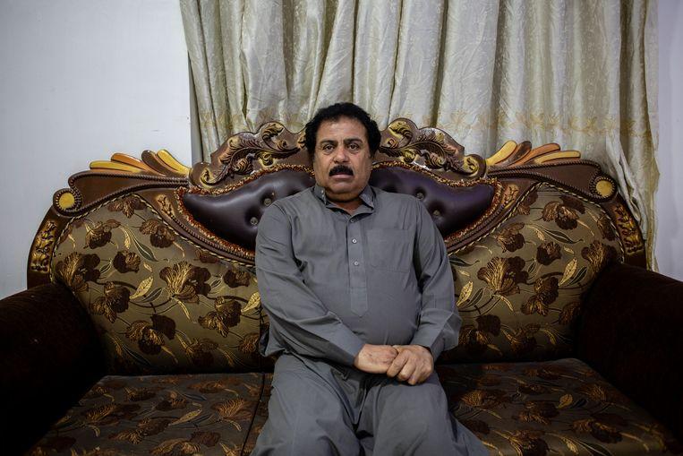 Sjeik Hamid Farhan al Hais in Ramadi: 'Amerikanen hebben andere methodes om te martelen dan Irakezen, maar ze martelen wel. ' Beeld Hawre Khalid