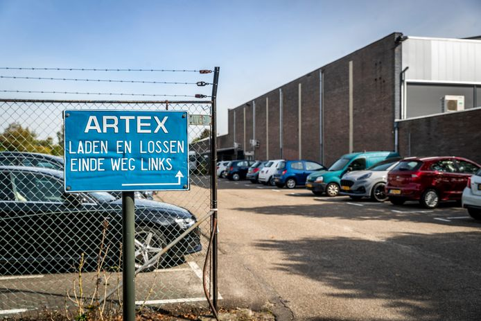 Het gebouw van woningtextielfabriek Artex in Aarle-Rixtel.