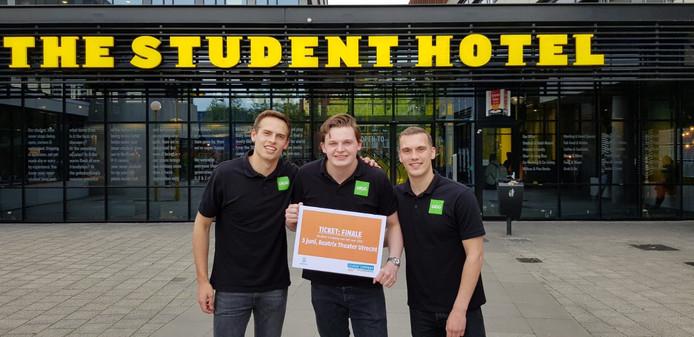 Jurre Meeuws, Paul Westendorp en Tijmen Kuster van GIGG.