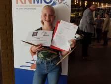 Mirthe Damen uit Someren-Eind is Brabants kampioen slagwerk