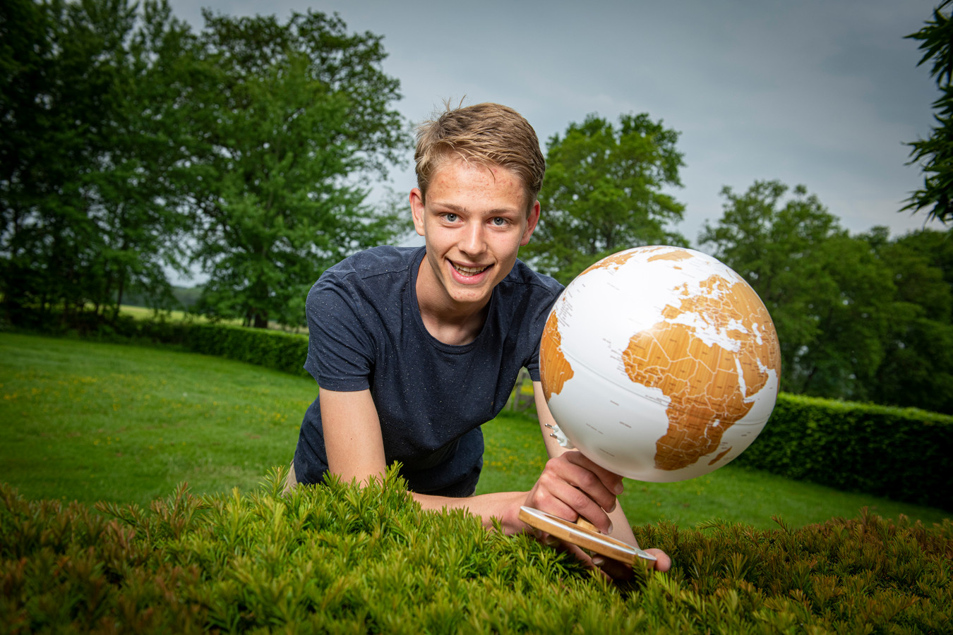 Pepijn van Diggelen (17) uit Hall heeft vandaag de nationale Aardrijkskunde Olympiade gewonnen.