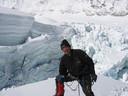 Willy Troch tijdens één van zijn vorige beklimmingen.