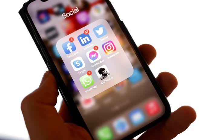 Het icoon van de app Clubhouse.
