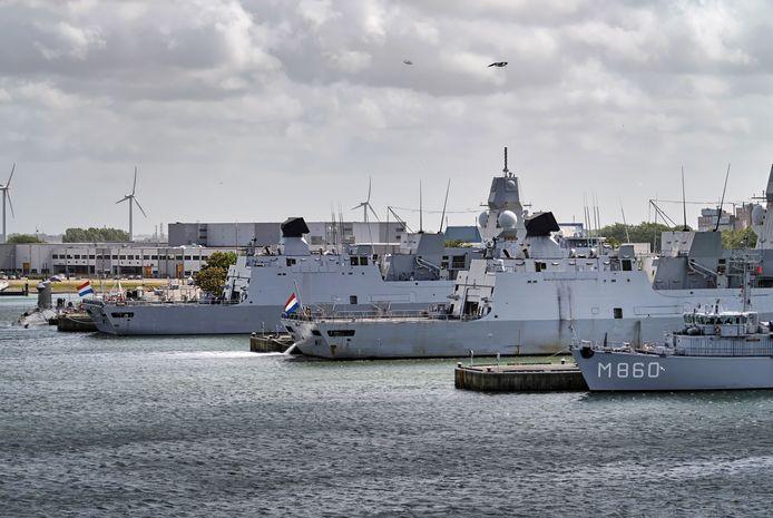 Marinebasis Den Helder. Ter illustratie.