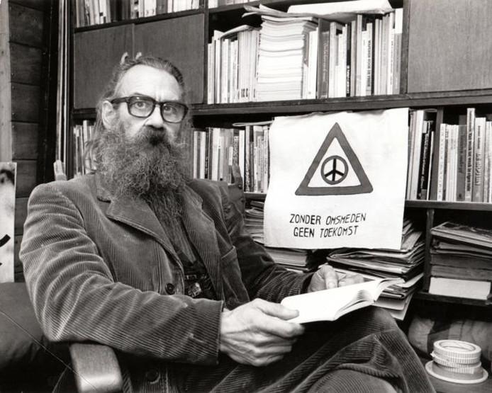 De Eindhovense vredesactivist Kees Koning in 1988. foto Ton de Hond