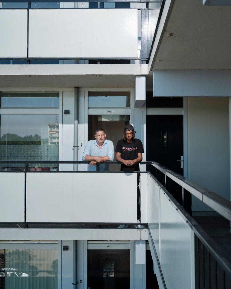 Wil Verbiezen (62) en Aricio Felter (23). Beeld Erik Smits