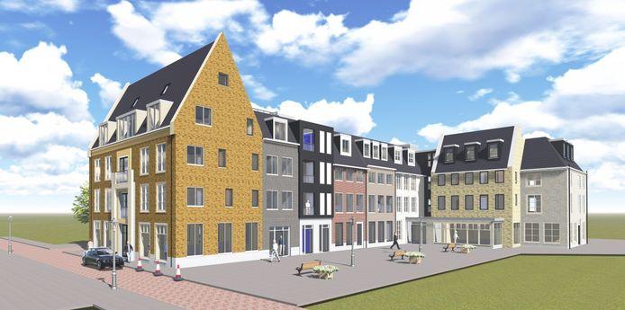 Residentie Gravenhof, gezien vanaf de Overdamstraat.
