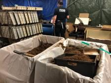 Illegale sigarettenfabriek opgerold in Schaijk, miljoenen sigaretten en duizenden kilo's tabak gevonden