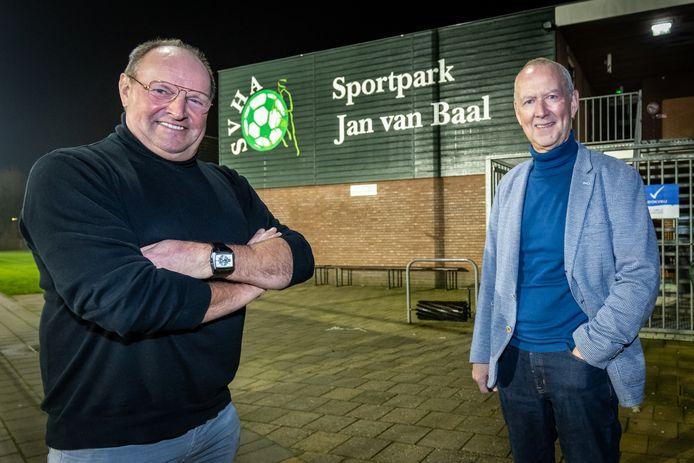John Verploegen (l) en Jan van Baal , naamgever van het sportpark.