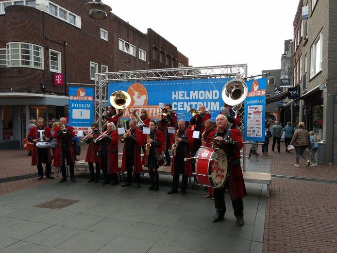 Een optreden tijdens het Helmondse Blaasfestijn in 2018.