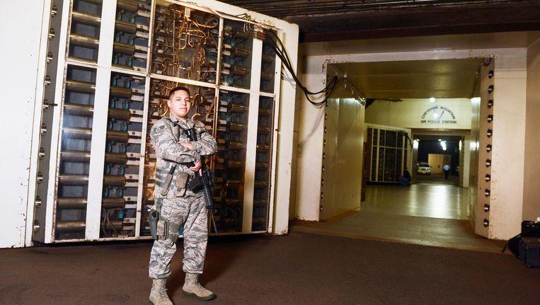 De bunker onder Cheyenne Mountain is voor de luchtvaartleiding bestemd.
