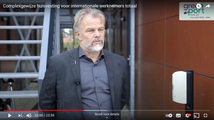 Directeur Bert Verheij van HomeFlex. Beeld uit de videopresentatie.