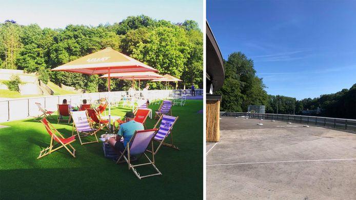 Le Bar de la Piscine à Loverval (Gerpinnes) n'a plus de pelouse