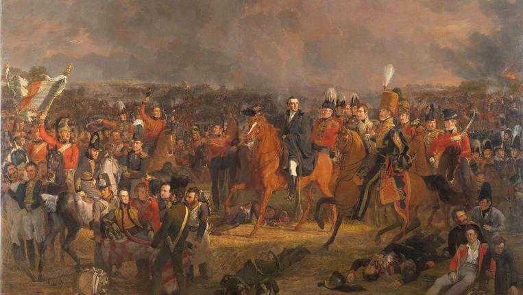 Slag bij Waterloo, door J.W. Pieneman. Oorlog zou vroeger minder mensen raken. Beeld Collectie Rijksmuseum