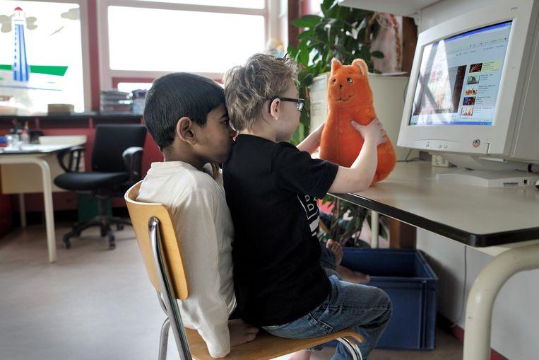 Leerlingen in het speciaal onderwijs zijn per definitie kwetsbaar, vinden voorstanders van het volledig openen, ook tijdens de lockdown, van scholen voor speciaal onderwijs. Beeld Joost van den Broek