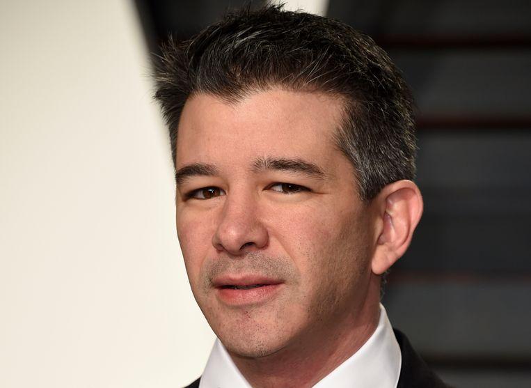 Travis Kalanick, de controversiële medeoprichter van Uber, zal er niet bij zijn bij de beursintroductie. Beeld Evan Agostini/Invision/AP