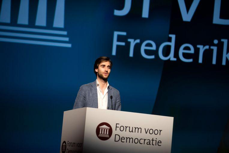 Bij Forum voor Democratie ontpopte Freek Jansen zich al snel tot de ideologische sparring-partner van Thierry Baudet. Beeld Hollandse Hoogte /  ANP