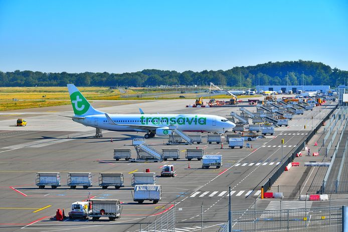 Geen vliegverkeer op Eindhoven Airport.
