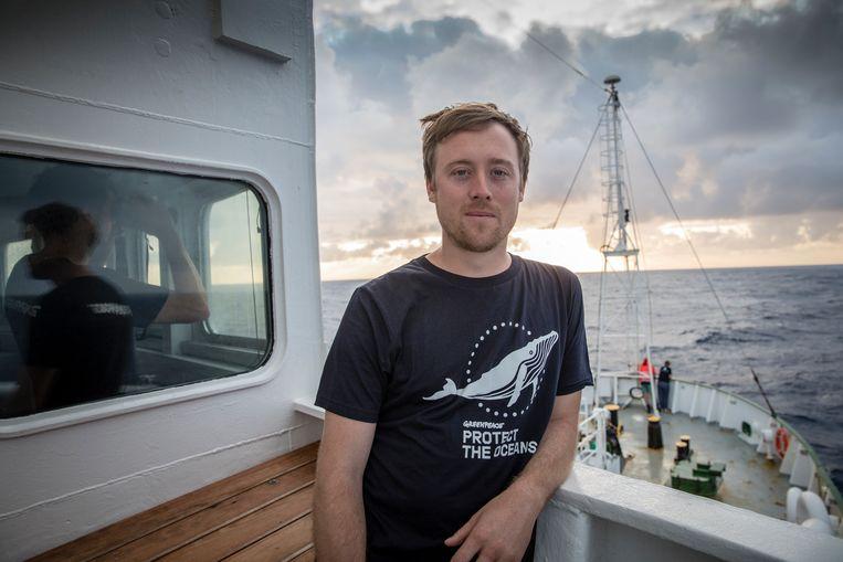 Will McCallum: 'Vissen zijn voor ons totaal andere wezens dan koeien of varkens. We vinden ze ook niet bepaald knuffelbaar.' Beeld © Kajsa Sjölander / Greenpeace
