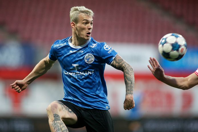 FC Den Bosch-spits Jizz Hornkamp kreeg voor de verloren uitwedstrijd tegen MVV het Bronzen Schild als beste speler van de vierde periode uit de Keuken Kampioen Divisie.