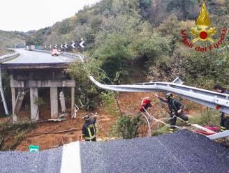 Snelwegbrug ingestort bij noodweer in noorden van Italië