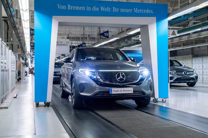De productie van de Mercedes EQC in Bremen is begonnen