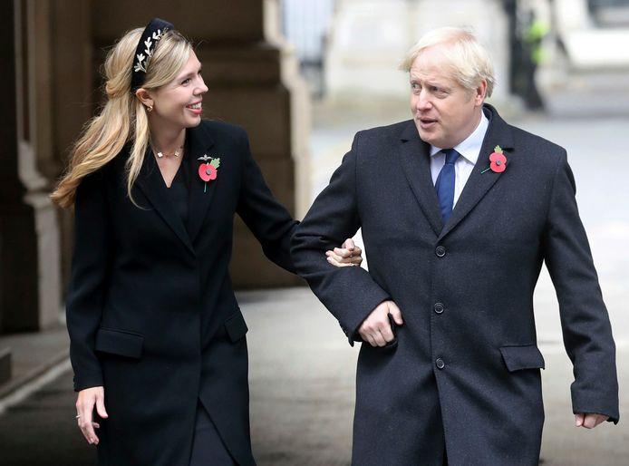 Carrie Symonds met haar verloofde Boris Johnson.