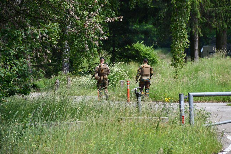De Belgische politie en het leger zoeken naar de voortvluchtige militair Conings. Beeld
