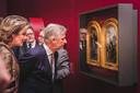 Koning Filip en koningin Mathilde bezochten de Van Eyck-expo in januari.
