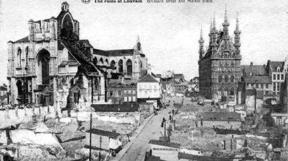 VIDEO. Brand in Notre-Dame herinnert Leuvenaars aan de brand van Leuven in 1914: zware schade aan Sint-Pieterskerk en universiteitsbibliotheek volledig vernield