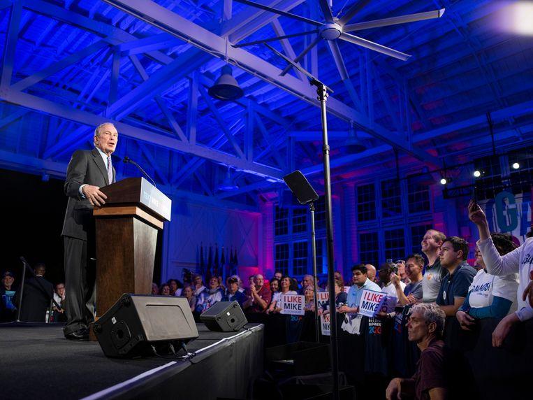 Michael Bloomberg doet morgen voor het eerst mee aan de voorverkiezingen. Beeld AP