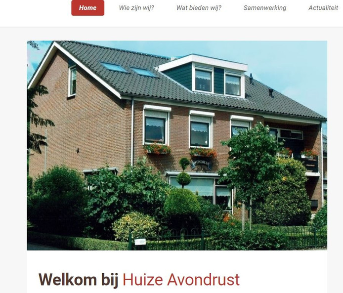 De website van Huize Avondrust.