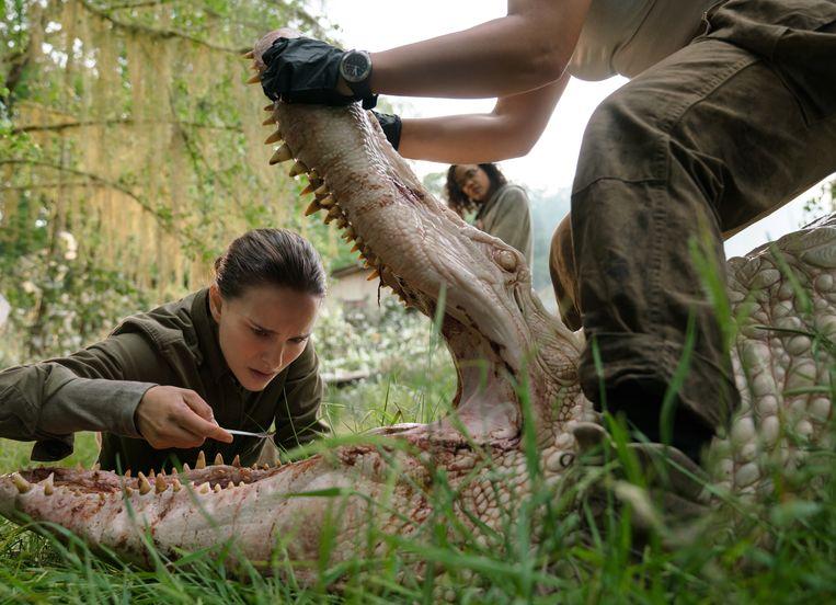 Natalie Portman in 'Annihilation', een steengoede film die misschien nog beter zou zijn in de bioscoop. Beeld RV