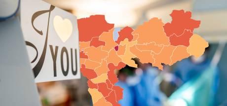 CORONAKAART | Weer meer besmettingen, maar in Nijmegen gaat het extreem goed: kijk hoe het zit in jouw gemeente