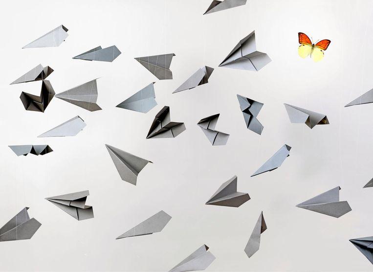 Zij die stoppen met vliegen moeten vooral niet denken dat hun druppel op de gloeiende plaat het milieu gaat redden Beeld Deborah van der Schaaf